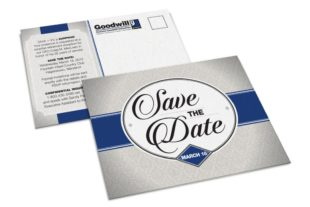 """Direct mail is a core of Icon's print design offerings. This mock-up shows the non-mailing panel closest to the """"camera,"""" with the mailing panel underneath and behind it to help accommodate the blank space for the mailing information."""